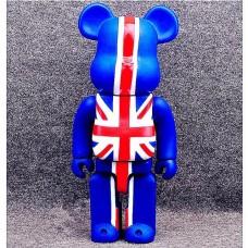 Дизайнерская Игрушка Беарбрик Кавс Bearbrick Kaws Фигурка Британский стиль British Style 400%