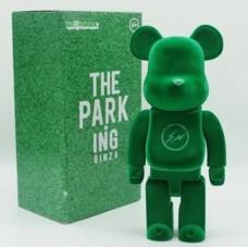Дизайнерская Игрушка Беарбрик Кавс Bearbrick Kaws Фигурка Зеленый Бархат Bearbrick 400 % (высота около 28 см)