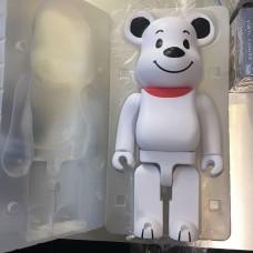 Дизайнерская Игрушка Беарбрик Фигурка Белый медведь Bearbrick 400 % (высота около 28 см)