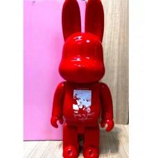 Дизайнерская Игрушка Бирбрик Кавс Bearbrick Kaws - Фигурка Красный Кролик Bearbrick 400 %