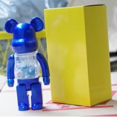 Дизайнерская Игрушка Бирбрик Кавс Bearbrick Kaws - Фигурка Голубой Мишка с бусами внутри Bearbrick 400 %