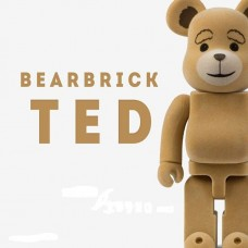 Дизайнерская Игрушка Бирбрик Кавс Bearbrick Kaws - Фигурка Мишка Тедди Ted2 Bearbrick 400 %