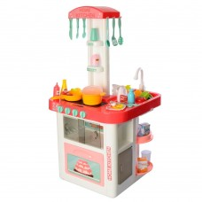 Детский Игровой Набор Кухня с водой, бытовой техникой, посудой, продуктами Home Kitchen КОРАЛЛОВАЯ арт. 889-59 46420-06 lvt-889-59