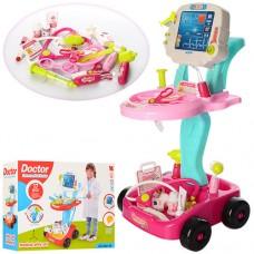 Детский Развивающий Игровой Набор Доктора с тележкой и мед. инструментами, свет и звук 41х58х32 см арт. 660-45