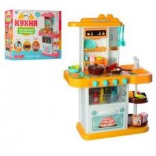 Детский Игровой Набор Кухня с водой, бытовой техникой и аксессуарами Home Kitchen ЖЕЛТАЯ арт. 889-153-154 49982-06 lvt-889-153-154yellow