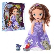 Детский Игровой набор Кукла для девочек Принцесса София с аксессуарами, птичками и кроликом, 32 см, арт. 8809