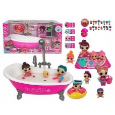 Игровой набор Ванная с 2 куколками ЛОЛ и аксессуарами, световые эффекты, используется с водой - LOL Surprise