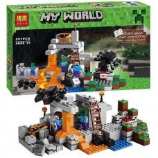 Конструктор для мальчиков Пещера: минифигурки героев, паука, аксессуары, 251 деталь - Bela Minecraft My World