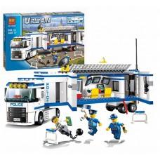 Конструктор для мальчиков Мобильный отряд полиции: длинный грузовик, фигурки, аксессуары 394 детали - Bela Urban