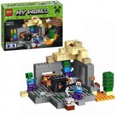 Конструктор для мальчиков Сражение в пещере: фигурки героев, зомби, сундук 219 деталей - Bela Minecraft My World