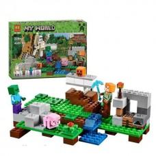 Конструктор для мальчиков Железный голем: игровая локация, 222 деталей, 3 фигурки - Bela Minecraft My World