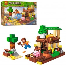 Конструктор для хлопчиків Острів скарбів: ігрова локація з фігурками, 248 деталей - Bela Minecraft My World