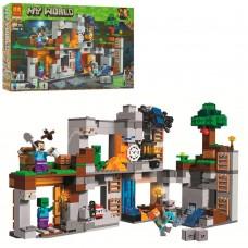 Конструктор для мальчиков Приключение в шахтах: 7 фигурок, подземная шахта 666 деталей - Bela Minecraft My World