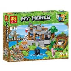 Конструктор для мальчиков Береговая цитадель - 3 варианта постройки крепости 517 деталей - Lele Minecraft My World