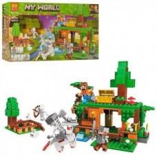 Конструктор для мальчиков Битва за сокровища: нападение скелетов, 4 героя, 327 деталей - Bela Minecraft My World