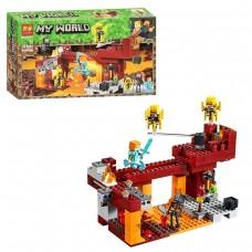 Конструктор для мальчиков Мост Ифрита: игровая локация для битвы, 378 деталей, фигурки - Lari Minecraft My World
