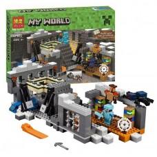 Конструктор для мальчиков Портал в Край 571 деталь, фигурки героев, паука, аксессуары - Bela Minecraft My World