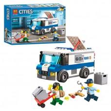 Конструктор для мальчиков Ограбление инкассатора: минифигурки, полицейская машина, 150 деталей - Bela Cities