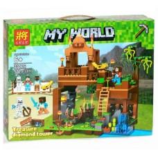 Конструктор для мальчиков Башня с алмазами: сокровищница , фигурки героев, 572 детали - Lele Minecraft My World