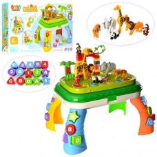 Игровой столик для малышей с конструктором JDLT  со звуковыми и световыми эффектами, 47 деталей арт. 5322