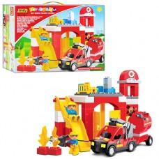 """Игровой развивающий конструктор для малышей """"Пожарная станция"""" ТМ JIXIN арт. 9188 С"""