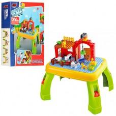"""Игровой развивающий столик для малышей с конструктором JIXIN """"Ферма"""", 42 детали арт. 3588A"""