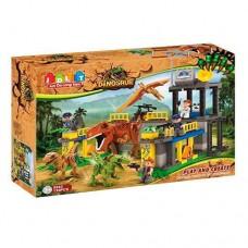 Детский Игровой Развивающий Конструктор для малышей Динозавры 135 деталей, подвижные элементы, JDLTарт. 5243