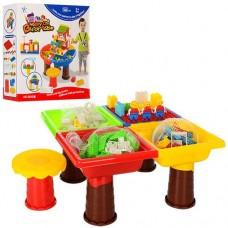 Игровой развивающий столик для малышей с конструктором (КВАДРАТНЫЙ), 248 деталей арт. 8805-8806