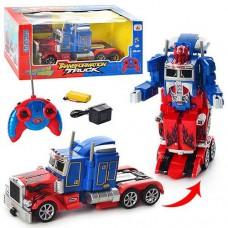 Игровой Робот-Трансформер для мальчиков Оптимус Прайм на радиоуправлении, свет и звуковые эффекты арт. 28128