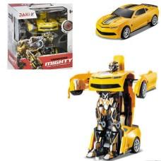 Игровой Робот-Трансформер для мальчиков Бамблби: световые и звуковые эффекты, пультом управления, 22х18х28 см
