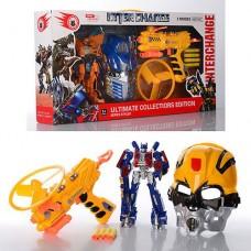 Игровой Набор для мальчиков Трансформер Оптимус Прайм, маска Бамблби и игрушечное оружие, свет, звук арт. 4116