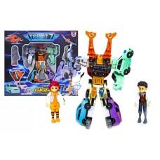Игровой Робот-Трансформер для мальчиков Тобот Гига 10 собирается из машинок 28см, 2 фигурки с подсветкой - Tobot