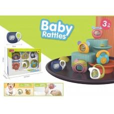 Набор звуковых развивающих Погремушек для малышей из 6 предметов: телефон, чайник, телевизор Baby rattles