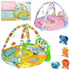 Детский Развивающий Многофункциональный Коврик Пианино для малышей, съемные игрушки ЗЕЛЕНЫЙ арт. 789-13 (0610)