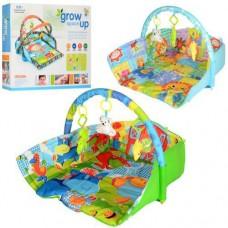 Развивающий Мягкий Игровой Коврик для малышей, подвесные игрушки, зеркальце, размер 65х70х55 см арт. D 104