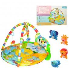 Развивающий  трансформирующийся коврик-пианино с подвескам для малышей  (ЗЕЛЕНЫЙ)  арт. 0610