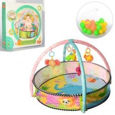 Детский Многофункциональный Развивающий Коврик Бассейн с 30 шариками, съемные игрушки, диаметр 87 см арт. 063