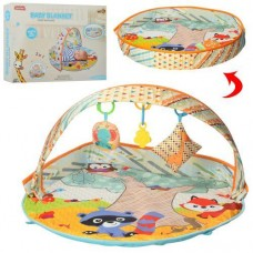 Детский Многофункциональный Развивающий Коврик 3в1 Манеж с яркими игрушками, диаметр 87 см арт. 023-024