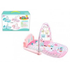 Детский Развивающий Игровой Комплекс Коврик для малышей, пианино, съемные игрушки РОЗОВЫЙ арт. 096 (097)
