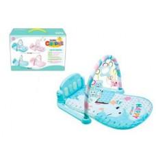 Детский Развивающий Игровой Комплекс Коврик для малышей, пианино, съемные игрушки ГОЛУБОЙ арт. 096 (097)