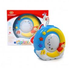 Детский Музыкальный Проектор для малышей с креплением к кроватке, колыбельные, звездное небо GoodWay арт. 8665