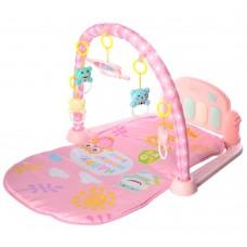 Детский Развивающий Игровой Комплекс Коврик для малышей, пианино, съемные игрушки РОЗОВЫЙ арт. 097 (096)