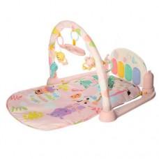 Детский Развивающий Игровой Коврик для малышей, пианино, проектор, съемные игрушки РОЗОВЫЙ арт. 681-682