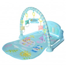 Детский Развивающий Игровой Комплекс Коврик для малышей, пианино, съемные игрушки ГОЛУБОЙ арт. 097 (096)