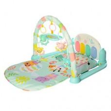 Детский Развивающий Игровой Коврик для малышей, пианино, проектор, съемные игрушки, ГОЛУБОЙ арт. 681-682