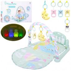 Детский Развивающий Музыкальный Игровой Коврик для малышей, светящееся пианино, съемные игрушки, арт. 698-56