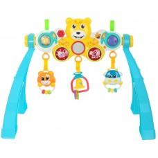 Детский Развивающий Игровой Центр для малышей с погремушками, крепится на кроватку, звуков. эффекты арт. 35732