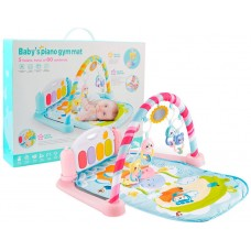Детский Развивающий Игровой Комплекс Коврик для малышей, пианино, съемные игрушки РОЗОВЫЙ арт. 9903