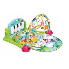 Детский Развивающий Игровой Комплекс Коврик для малышей, пианино, съемные игрушки, САЛАТОВЫЙ арт. 0603