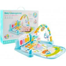 Детский Развивающий Игровой Комплекс Коврик для малышей, пианино, съемные игрушки, ГОЛУБОЙ арт. 9903